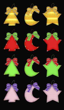Free Christmas Vector Decorations Royalty Free Stock Images - 14237029