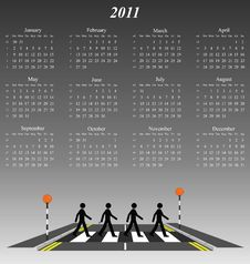 Free 2011 Calendar Royalty Free Stock Photo - 14237045