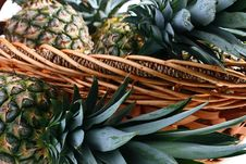 Crop Pineapples Stock Photography