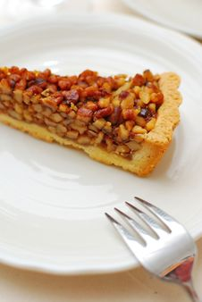 Free Hazel Nut Tart With Fork Royalty Free Stock Photo - 14238245