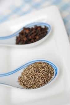 Spices And Seasoning As Food Ingredients Royalty Free Stock Photography