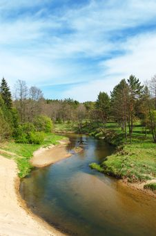 Free River In The Forest Stock Image - 14238481