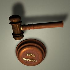 Free Gavel With 100 NATURAL Stock Photo - 14238880