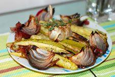 Free Zucchini And Onion Platter Stock Photo - 14238970