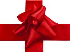 Free Satin Ribbon Tied In A Bow Stock Images - 14239484