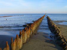 Ruin Pier Royalty Free Stock Photography