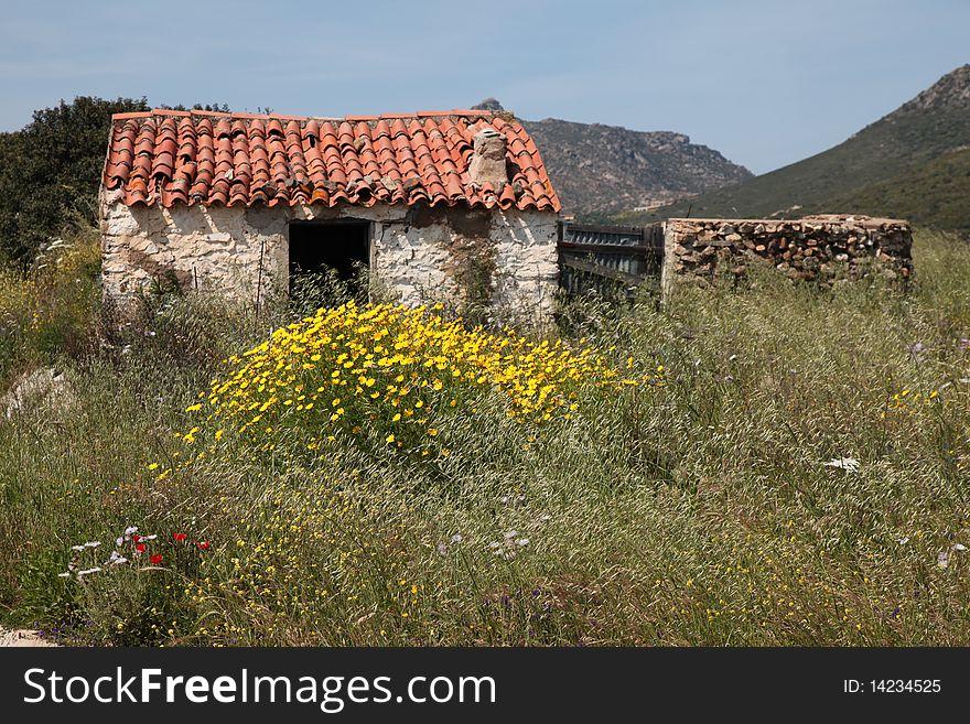 Italy rural house hinterland of the Sardegna
