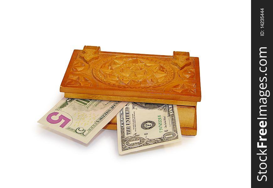 Casket with money