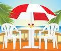 Free Restaurant At A Sea Royalty Free Stock Image - 14249006
