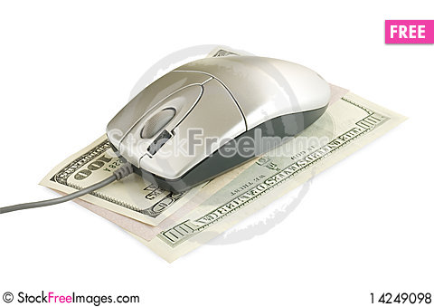Computer mouse on the dollar Stock Photo