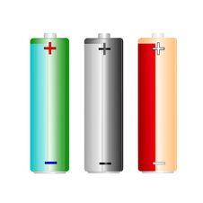 Free 3 AA Battery Set Stock Image - 14240321