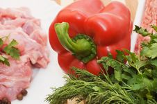 Free Fresh Meat And Different Components Stock Images - 14240604