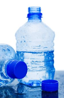 Free Water Bottle Isolated Over White Royalty Free Stock Image - 14241096