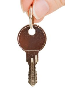 Free Key In A Hand Stock Image - 14241211