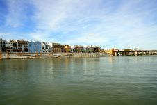 Free Seville, Guadalquivir River & Buildings Landscape Royalty Free Stock Photo - 14242295