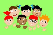 Free Children Slam In Palms. Stock Image - 14242491