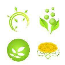 Nature Logo Elements Stock Images
