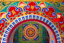 Free The Art On Roof Of Chinese Temple Stock Photos - 14243383