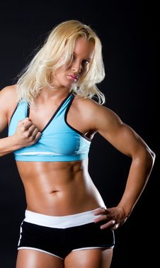 Sexy Fitness Instructor Stock Images
