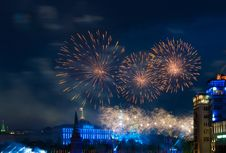 Free Firework Over Moscow Royalty Free Stock Images - 14243839