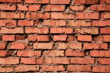 Grungy Old Red Brick Texture Royalty Free Stock Image