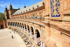 Free Seville. Plaza De Espana Palace, Spain Royalty Free Stock Photo - 14244035