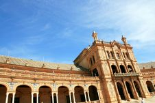 Sevilla, Plaza De Espana Square Palace. Spain Stock Photography