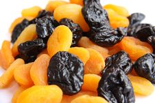 Dried Plums And Apricots Royalty Free Stock Photos