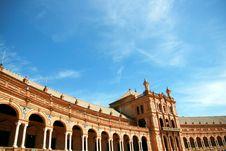 Sevilla, Plaza De Espana Palace Square. Spain Stock Image