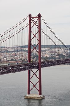 Free 25 De Abril Bridge Stock Image - 14244491