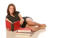 Free Teen Girl Studying Stock Image - 14244571