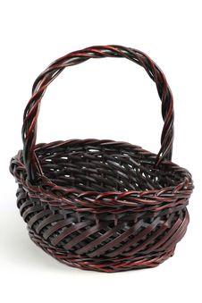 Mauve Willow Basket Stock Image