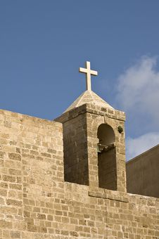 Free Cross On Top Of Church, Old Jaffa, Israel Stock Photos - 14245953