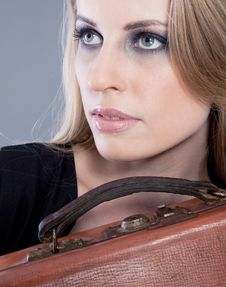 Free Lady With Baggage Royalty Free Stock Photos - 14246078