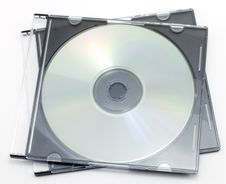 CD-ROM In A Box Stock Photos