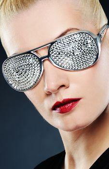 Free Beautiful Woman In Stylish Glasses Stock Photos - 14246473