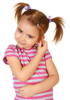 Free Little Funny Girl Royalty Free Stock Photos - 14247218