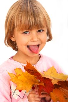 Little Funny Girl Royalty Free Stock Image