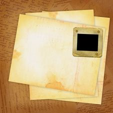 Free Grunge Sheets With Old Slide For Design Royalty Free Stock Photo - 14248305