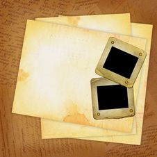 Free Grunge Sheets With Old Slide For Design Royalty Free Stock Photography - 14248307