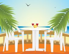 Free Restaurant At A Sea. Kind From A Balcony Royalty Free Stock Photo - 14248715