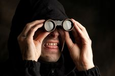 Free Funny Man With Binocular Stock Photo - 14248850