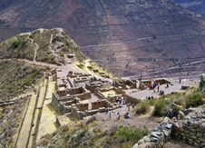 Free Pre-Columbian Inca Ruins In Pisac Royalty Free Stock Photos - 14249028