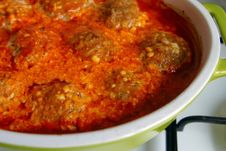 Homemade Cutlets Under The Sauce Royalty Free Stock Photos