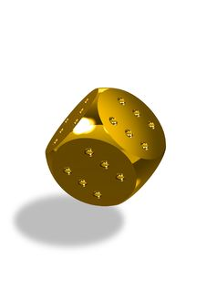 Free Always Winning Golden Dice Rolling Royalty Free Stock Photography - 14249147
