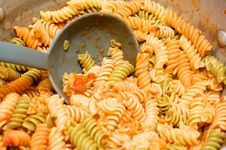 Free Big Pot Of Pasta Royalty Free Stock Photography - 14249207