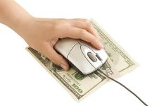 Free Computer Mouse In Hand, The Dollar Stock Photo - 14249230