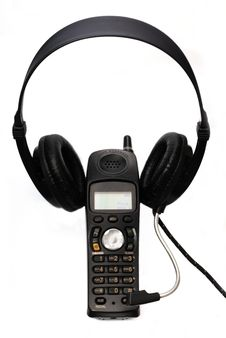 Free Cordless Phone With Headphone Stock Photos - 14249273