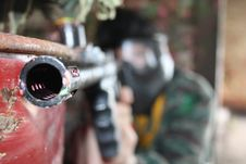 Free The Player In The Paintball Royalty Free Stock Photo - 14249355