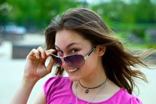 Free Teen Girl In Sunglasses Royalty Free Stock Image - 14249526